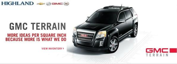 Buy GMC Terrain Vehicles at Highland Chevrolet Buick GMC Cadillac in Aurora Ontario