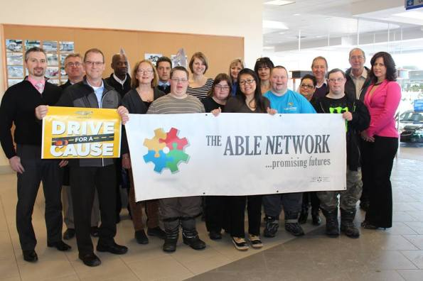 Highland supports The ABLE Network with Drive for a Cause