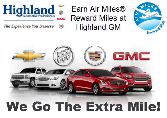Earn AIR MILES® Reward Miles at Highland